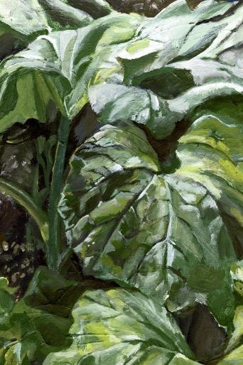 Malerei - Ausschnitt im Garten