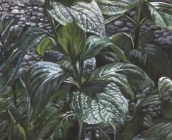 Malerei - Pflanze im Garten