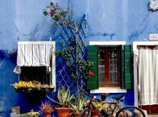 Blaues Fenster