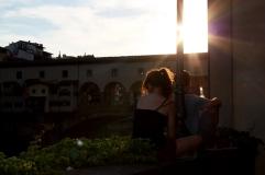 Blick auf Ponte Vecchio