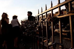 Schlösser an der Ponte Vecchio